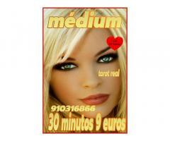 30 minutos 9 euros, tarot,videntes y médium fiable