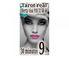 Tarot real 30 minutos 9 euros  videntes y médium  visa certero