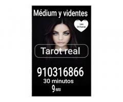 Tarot real 30 minutos 9 euros  videntes y médium  visa certero fiables