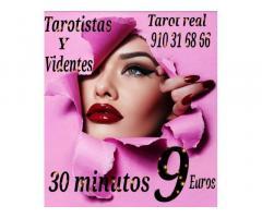 Tarot real 30 minutos 9 euros  videntes y médium  visa