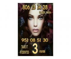10 minutos 3 € y 806 desde 0.42 €/ min tarot y videntes