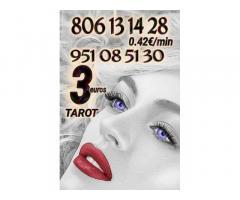 Tarot y videntes visa 3 euros  y 806 desde 0.42 €/minutos