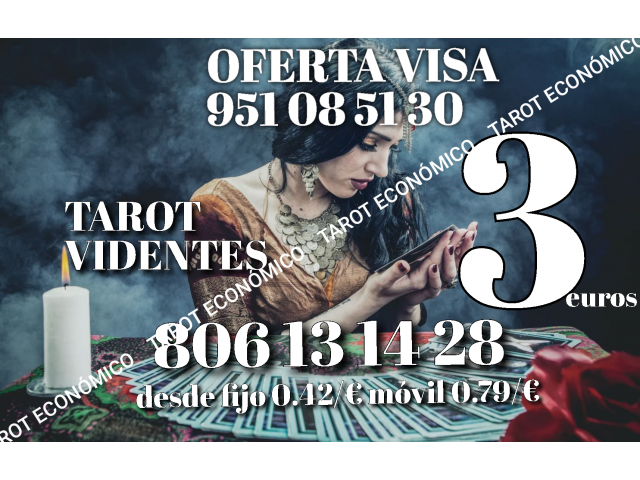 Tarot y videntes 3 euros certero oferta visa económico