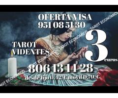 Tarot telefónico 3 euros oferta visa económico certero