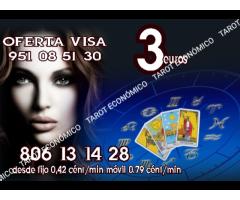 3 euros videntes y tarot  806 /min 0.42 € económicos fiables
