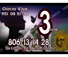 3 euros visa videntes  806 /min 0.42 € económicos fiables