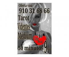 Tarot visa 30 minutos 9 euros  videntes y médium