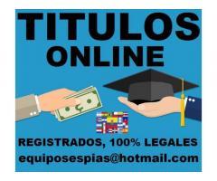 Vendo titulos universitarios y tecnicos  equiposespias@hotmail.com