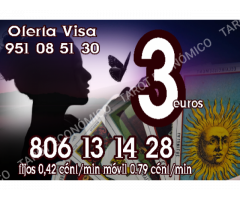 3 euros videntes y tarot  806 /min 0.42 € minutos