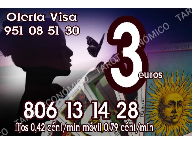 3 euros visa videntes y tarot  806 /min 0.42 € certero
