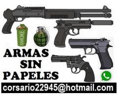 Vendo armas reales sin papeles  corsario22945@hotmail.com